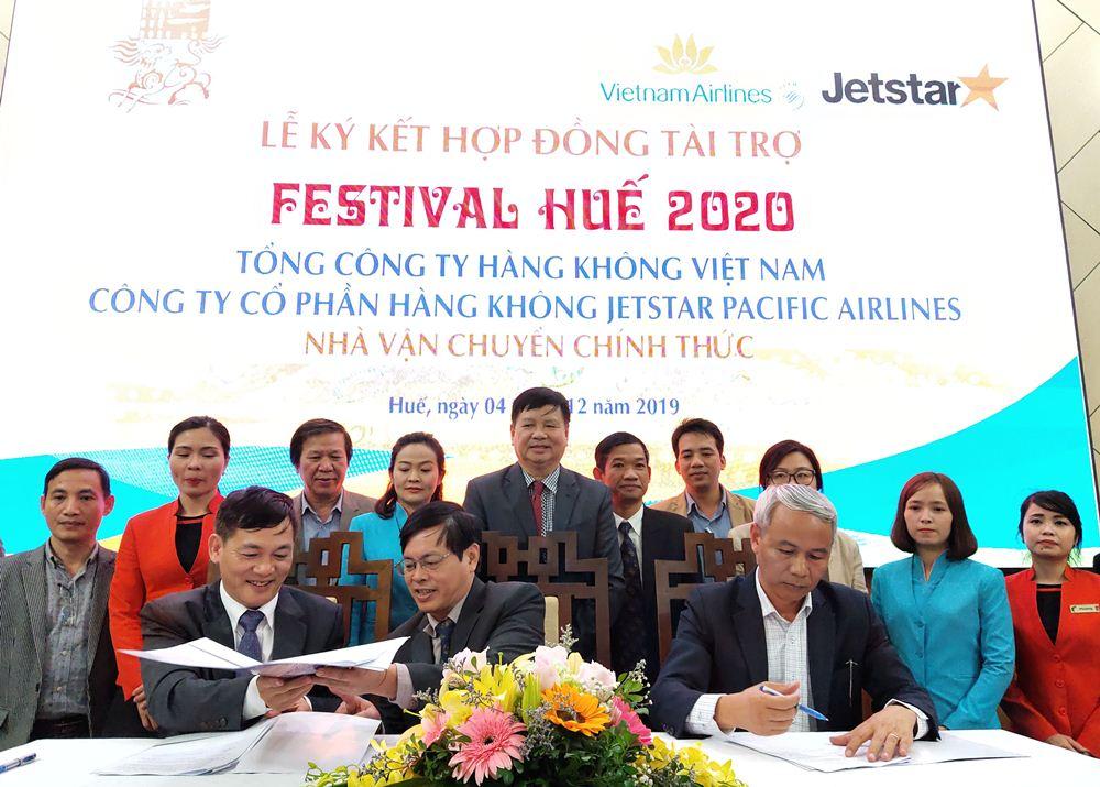 Vietnam Airlines và Jetstar Pacific là nhà vận chuyển chính thức của Festival Huế 2020